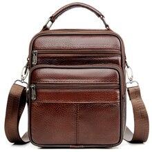 716d4045b81 JackKevin Genuine Leather Men Handbag Shoulder Bag Hot Sale Cow Leather Bag  Vintage Casual Style Flap
