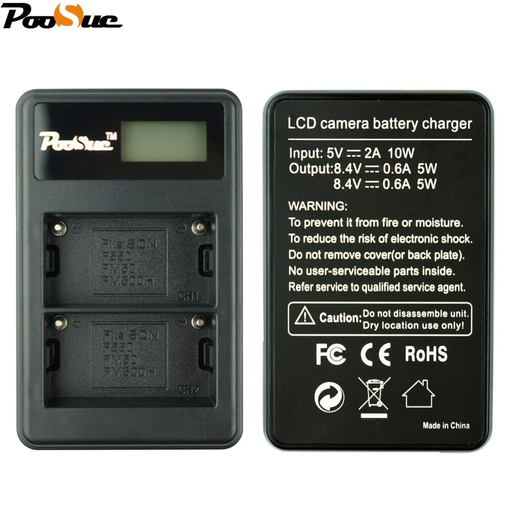 NP-FM500h Charger NP FM500H npfm500h Camera Battery LCD Dual charger For Sony Alpha a58 A65 A77 A99 A350 A550 A580 A900