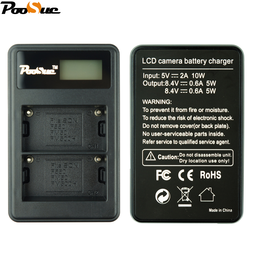 NP-FM500h Charger NP FM500H npfm500h Camera Battery LCD Dual charger For Sony Alpha a58 A65 A77 A99 A350 A550 A580 A900