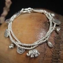 S925 pure silver bracelet female Thai silver elephant elephant bracelet