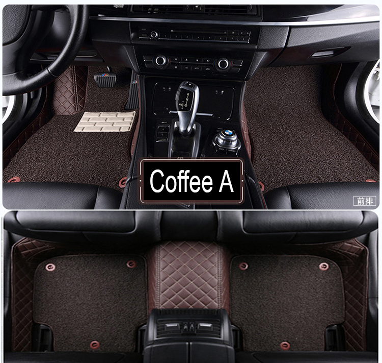 Car Floor Mats Case For Chevrolet Cruze Sonic Trax Sail Captiva Epica Leather Anti-slip Car-styling Carpet Liner Pure Whiteness Automobiles & Motorcycles