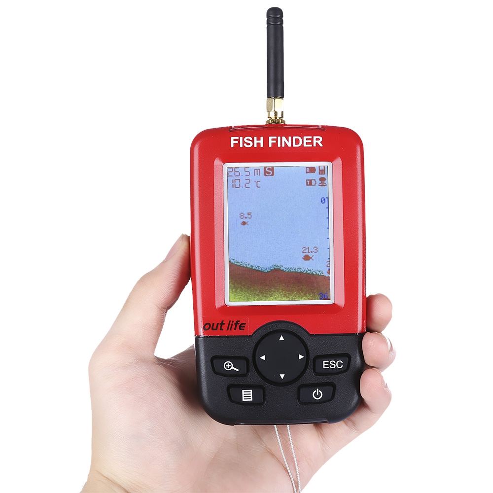 Outlife smart portable fish finder with wireless sonar for Wifi fish finder