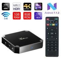 X96 Mini Android 7 1 Top TV BOX Amlogic S905W Quad Core Suppot H 265 UHD