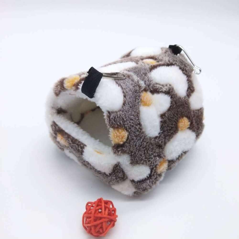Mùa đông Lông Cừu Guinea Chuột Lợn Giường Nhà Võng Ấm Squirrel Hedgehog Chinchilla Đường tàu lượn Giường Nhà Lồng Phụ Kiện