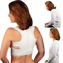 Выпрямите брейс осанки ортопедические регулируемые здоровья вернуться магнитный корректор пояса плеча