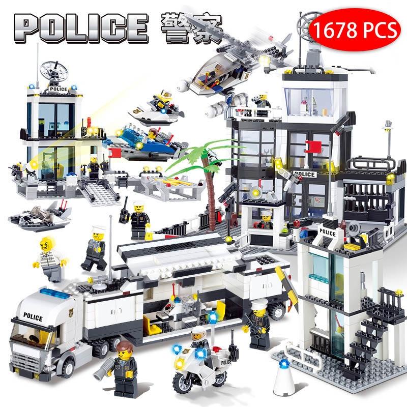 Dropwow Kids Toys City Street Police Station sets Cars Trucks ... 41dd2e425a