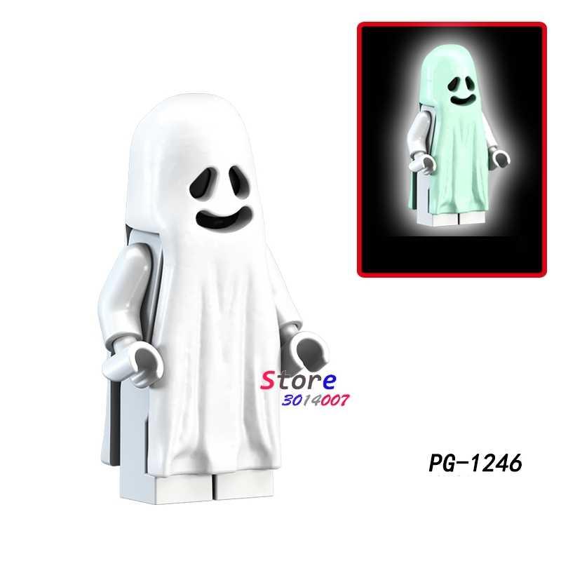 Vitruvius 1PCS blocos de construção do modelo de ação O Horror Tema do Dia Das Bruxas Fantasma Zumbi Luar diy brinquedos para presente de crianças