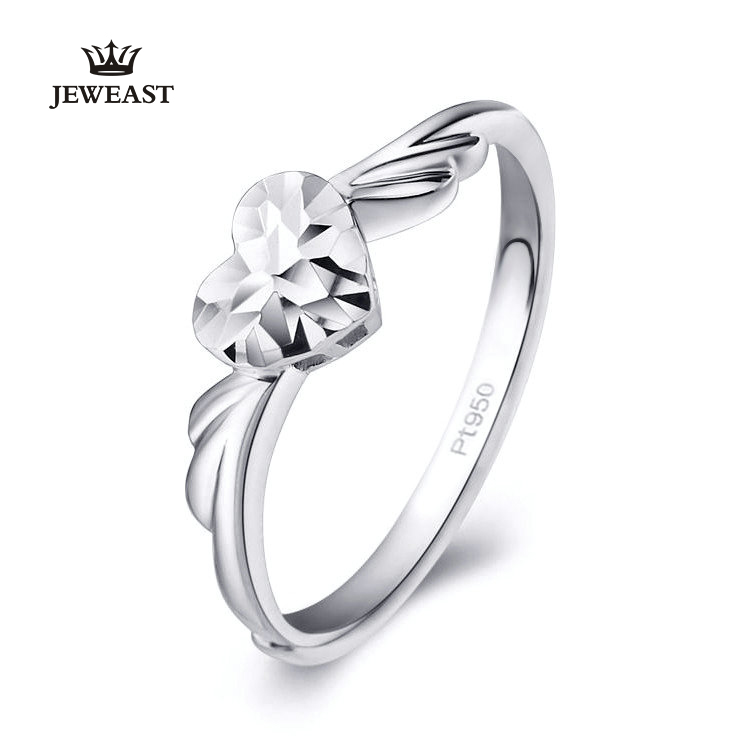 Pt950 Pure Gold Ring Real Solid Gold Rings Good Beautiful Upscale Trendy Classic Party Fine Jewelry Hot Sell New 2018 new pure au750 rose gold love ring lucky cute letter ring 1 13 1 23g hot sale