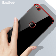Купить с кэшбэком For Huawei P10 Lite Case Cover Transparent Plating Soft Silicone Slim Back Cover For Huawei P10 P10Lite P10Plus Case Phone Coque