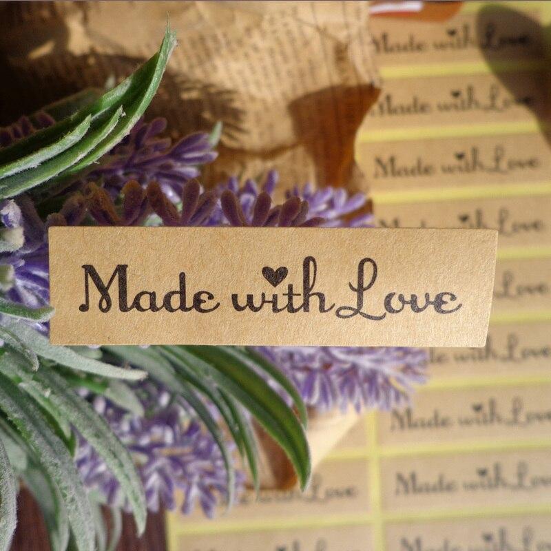 108 шт прямоугольник Сделано с любовью романтичный дизайн канцелярские наклейки сделай сам многофункциональные крафт-стикер, этикетка для п...