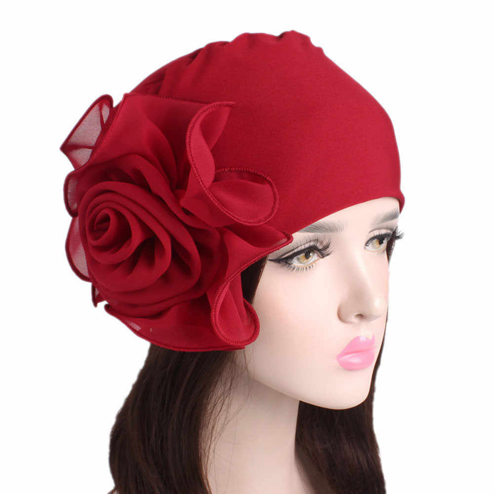 Cap African Style Headwear Cap African Style Muslim Turban Hair Retro Accessories Fashion Women Solid Vintage Flower Headwear