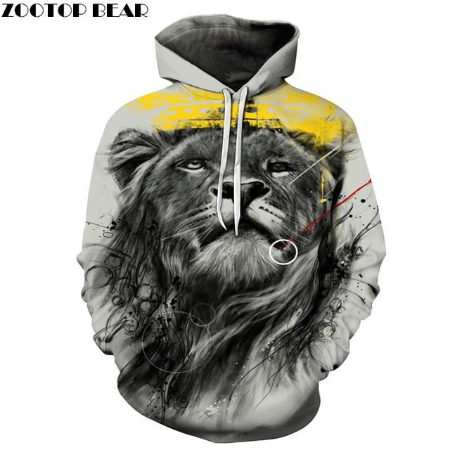 1fb50cc2afd4 Lion King Printed Hoodies Men Women 3D Printed Sweatshirts Unisex Pocket  Coat Hooded Skateboard Coat Male Streetwear Brand