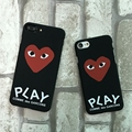 CDG Play Phone Case For iPhone 5 6 7 Comme des Garcons Hard Matte Cases For iphone 5S 6s 7 Plus SE Phone Protect Cover