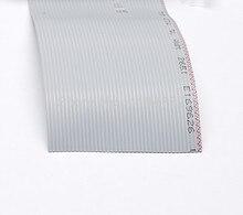 1 Meter 40Pin 1,27mm Abstand 2,54mm Pitch 40 P Haarverlängerung Flach Grau Band Kabeladern Für Raspber PI GPIO