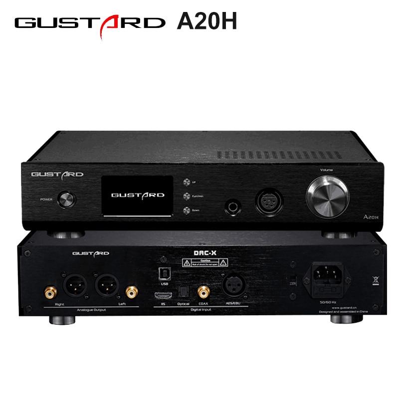 GUSTARD A20H Dual AK4497 XMOS USB PCM/DSD DOP DAC Decoder and Class A Full Balanced Amplifier