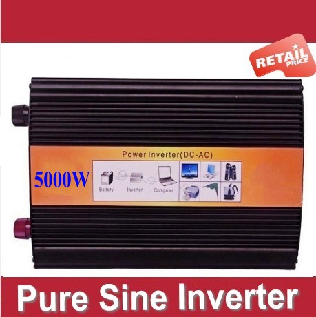Reliable 5000W (peak 10000w) Pure Sine Wave Inverter Off Grid dc to ac Power Converter Solar System Power Inverter home inverter