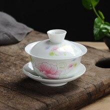 Белый фарфоровый чайный сервиз gai wan костяного фарфора чайные наборы красивый и легкий чайный горшок фарфоровый набор для путешествий