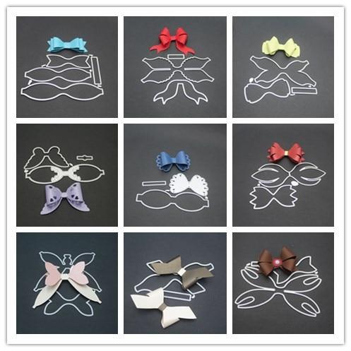 9 סגנונות 3D קשת מסגרת מתכת חיתוך מת שבלונות עבור DIY רעיונות חג המולד דקורטיבי הבלטות תבנית