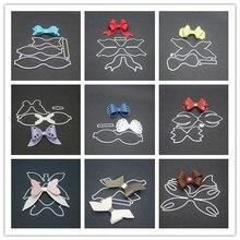 9 видов стилей 3D лук рамки металла трафареты для пресс-формы для DIY Скрапбукинг Рождественские поздравительные открытки декоративные тиснение шаблон