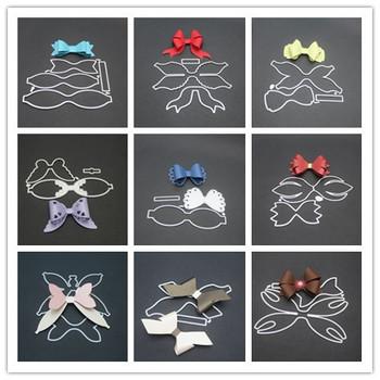 9 stylów 3D łuk ramki metalowe wykrojniki szablony dla DIY Scrapbooking kartki świąteczne dekoracyjne wytłaczanie szablonu tanie i dobre opinie LIOJU CLOUD Zwierząt List Flower bird Nieregularne Rysunek fruit Serce Księżyc fish