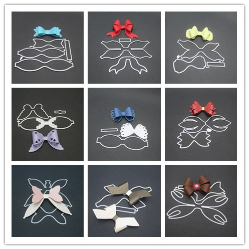 9 styles 3D Bow Frame Metal Cutting Dies Stencils for DIY Scrapbooking Christmas Greeting Cards Decorative Embossing Template-in Cutting Dies from Home & Garden