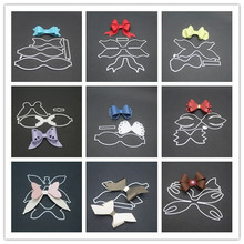 9 styles 3D Bow Frame Metal Cutting Dies Stencils for DIY Scrapbooking Christmas Greeting Cards Decorative Embossing Template