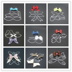 9 styles 3D Bow Frame Metal Cutting Dies Stencils for DIY Scrapbooking Christmas Greeting Cards Decorative Embossing Template(China)