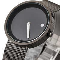 Nouvelle montre à quartz pour hommes Bracelet en acier inoxydable avec bande de maille pour hommes mince montres pour hommes design créatif montres de sport Relogio Masculino