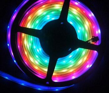 5M WS2811 led strip 30led/m Waterproof IP67 5050 rgb Dream Color LED Strip Light WS2811 ic/m DC12V Digital Strip Light