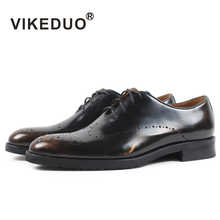 Vikeduo 2019 Handmade Designer Footwear Fashion Party Wedding Office Brogue Men Dress Shoe Genuine Leather Oxford Patina Zapato - DISCOUNT ITEM  43% OFF All Category