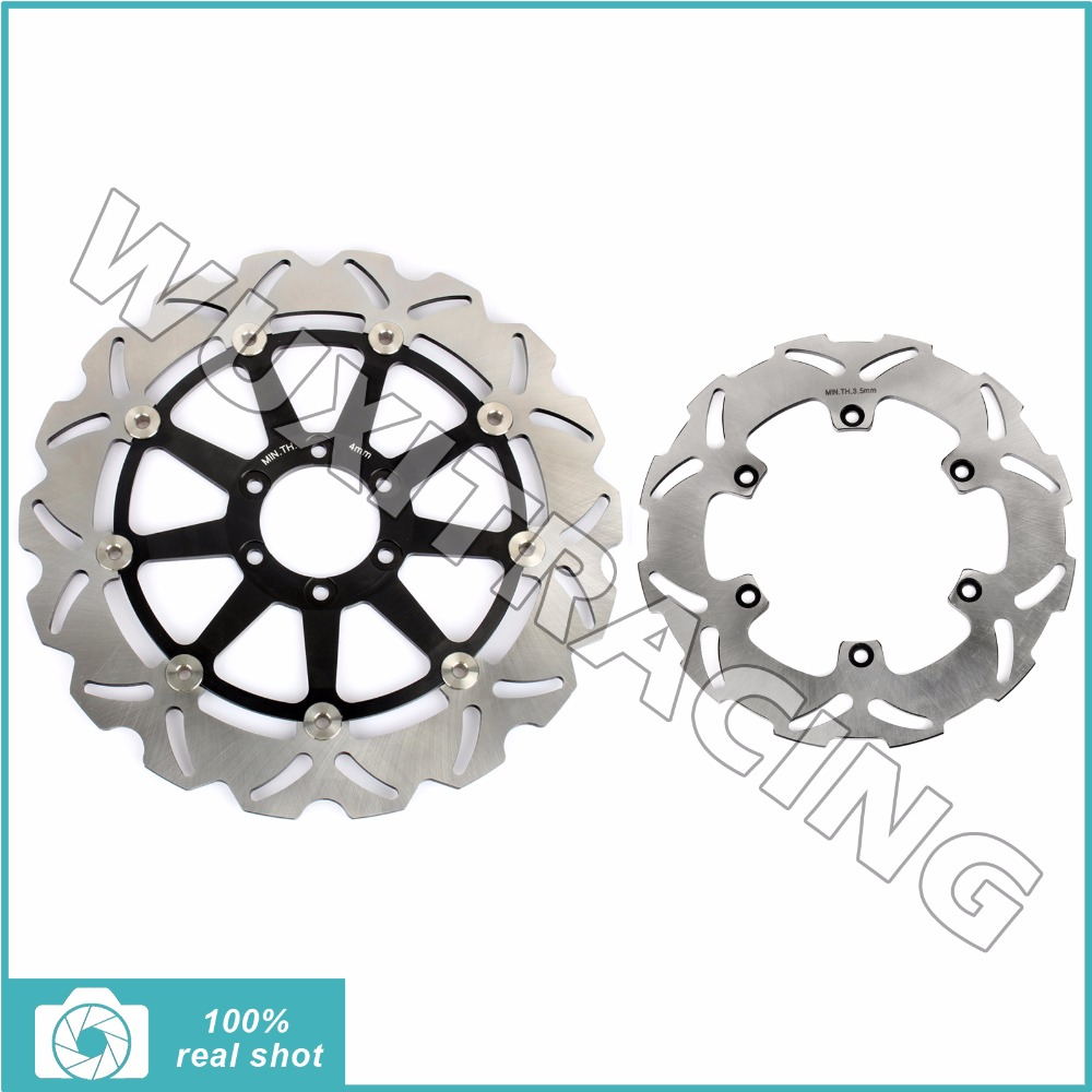 New Front Rear Brake Discs Rotors for Aprilia MX 125 04 05 06 07 RS REPLICA / Extrema 125 92 93 94 95 96 97 mfs motor motorcycle part front rear brake discs rotor for yamaha yzf r6 2003 2004 2005 yzfr6 03 04 05 gold