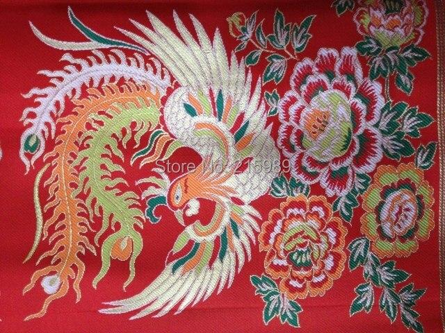 tissus textile soie chinoise tapisserie satin phoenix tibet haut de gamme tib tain soie x7. Black Bedroom Furniture Sets. Home Design Ideas