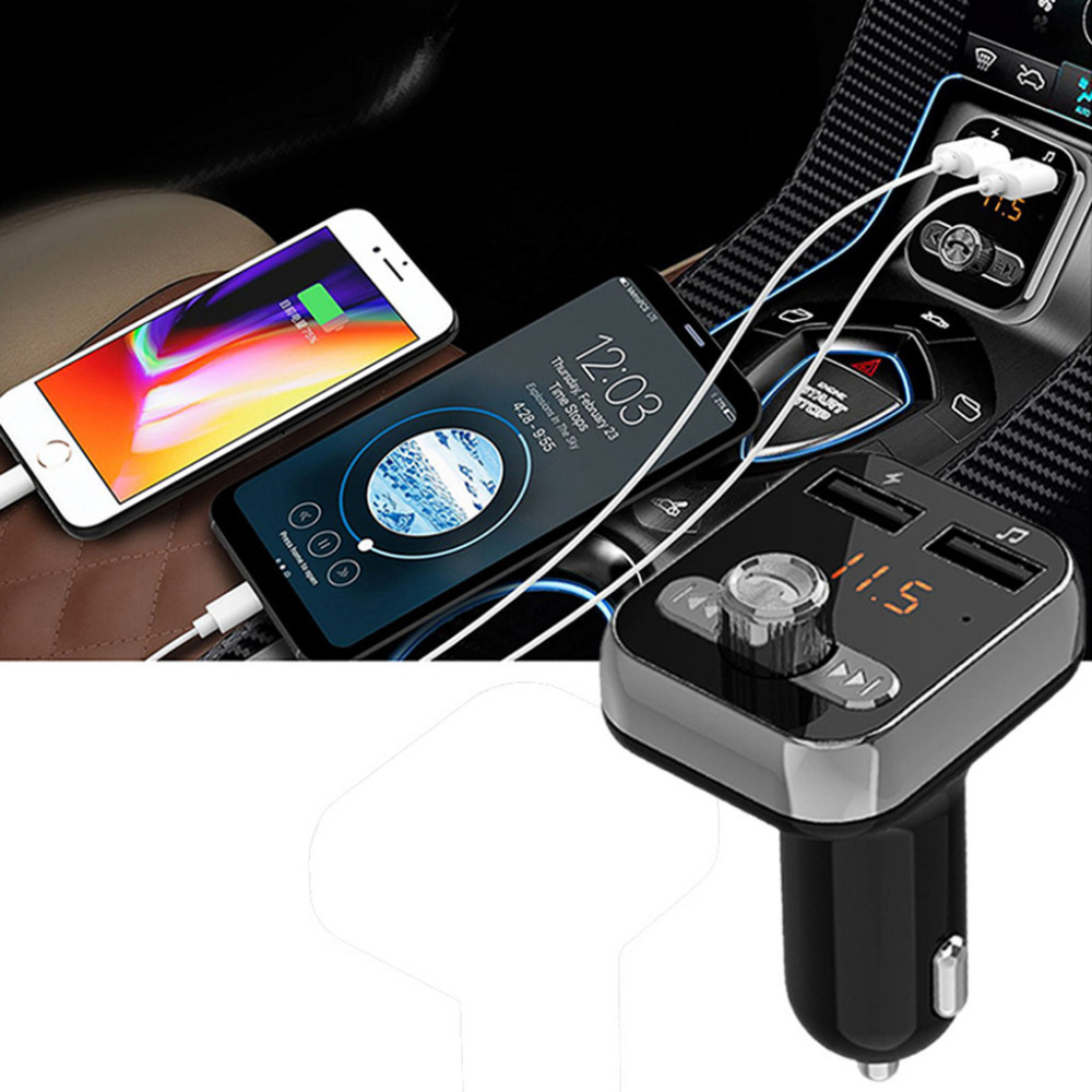 Cable Manos Libres Coche Bluetooth Car Usb Charger Fm Transmitter Wireless Radio Adapter Mp3 Player Car Handsfree Carkit Manos Libres Coche