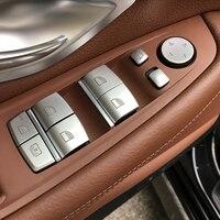 Window Glass Lifting Buttons Sequins Decoration For Bmw 1/2/3/5/6/7 Series 5gt X1x3x4x5x6 Chrome Abs Door Armrest Trim Decals