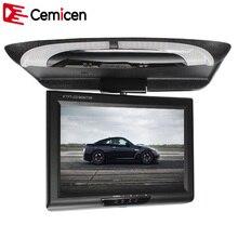Cemicen 9 Pouce 800*480 Voiture Toit Mount LCD Couleur Moniteur Flip Écran Frais Généraux Multimédia Vidéo Plafond Toit montage Affichage