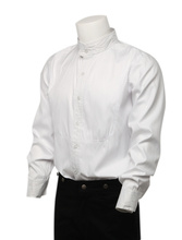 Free Shipping Cozy White Cotton Long Sleeves Steampunk Shirt For Men