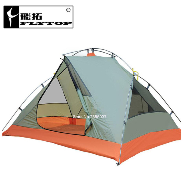 Anti-UV 2 Person Tent ultralight Double Layer Camping Garden Fishing Outdoor Tent 4 Season with 2 Person Mat