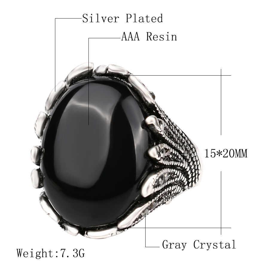 Sıcak butik Vintage takı moda düğün bayan yüzük mozaik gri kristal gümüş renk yüzük