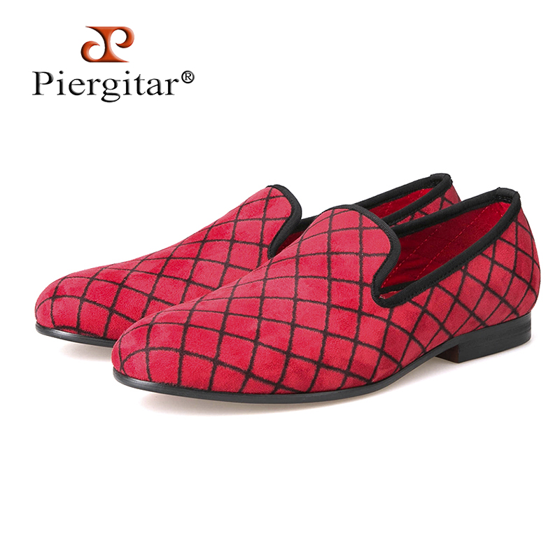 Four Colors Lattice Men Velvet shoes Men Fashion Loafers Plus Size Smoking Slipper Men's Flats Size US 4-17 Free shipping horsehair leopard print suede men shoes men loafers smoking slipper men flats size us 4 17 free shipping