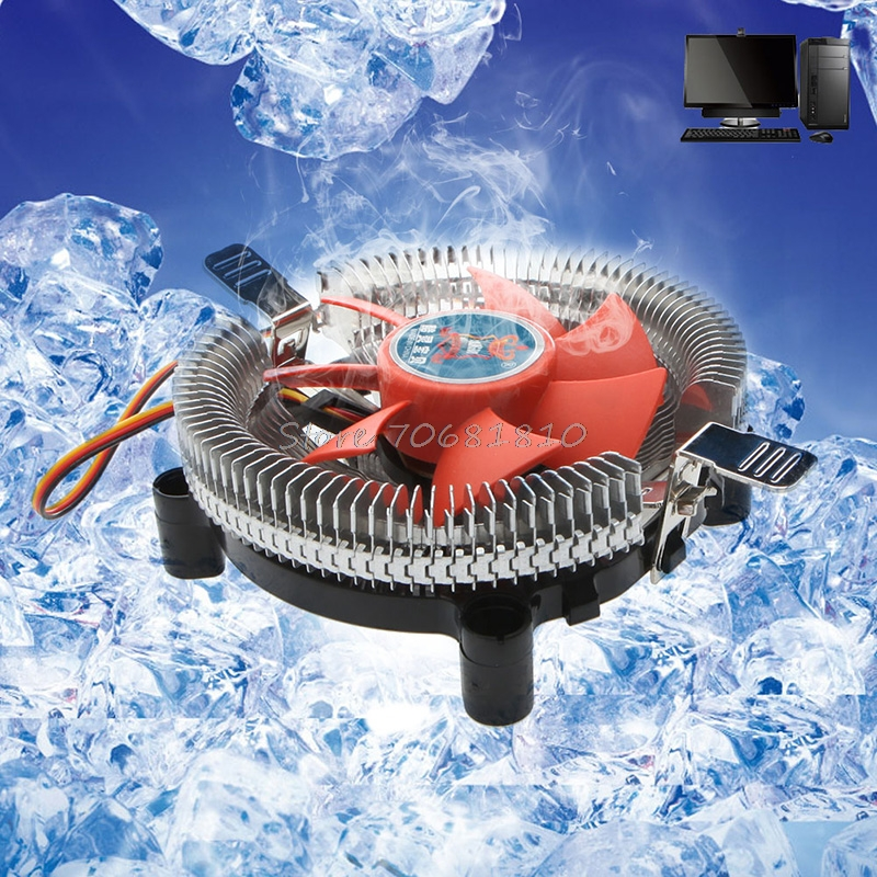 2200rpm CPU Quiet Fan Cooler Cooling Heatsink For Intel LGA775/1155 AM2/3  Drop Shipping universal cpu cooling fan radiator dual fan cpu quiet cooler heatsink dual 80mm silent fan 2 heatpipe for intel lga amd