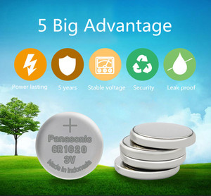 Image 3 - パナソニックオリジナル製品 5 ピース/ロットcr1620 ボタン腕時計 3vリチウム電池cr 1620 リモートコントロール電卓