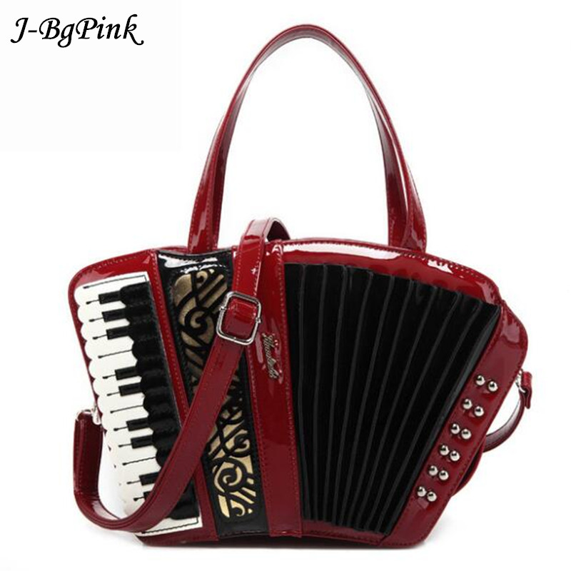 2018 Women's vintage accordion bag Musician's handbag party concert use novelty Trong music purse Preppy Style Crossbody Bags Me niko black 21 23 26 ukulele bag silver edge nylon soprano concert tenor soft case gig bag 5mm thick sponge