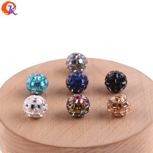 Image 2 - Cordial Design 100Pcs 12*14MM Jewelry Accessories/Crystal Bead/Polymer Clay Bead/Chunky Bead/DIY Bead/Hand Made/Earring Findings