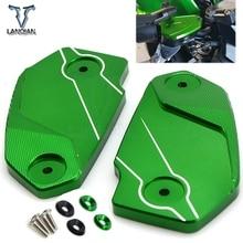 オートバイフロントブレーキリザーバー液タンクカバーオイルカップキャッププロテクターkawasaki ninja650 ためVERSYS650 ER6N ER6F
