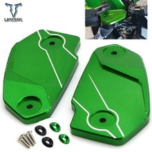 motorcycle front Brake Reservoir Fluid Tank Cover Oil Cup Cap Protector for kawasaki ninja650 VERSYS650 ER6N ER6F