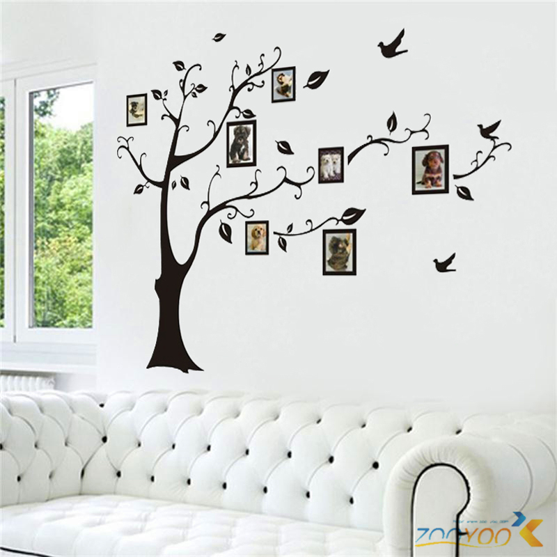 3designs small/medium/large photo frame family tree wall stickers ...