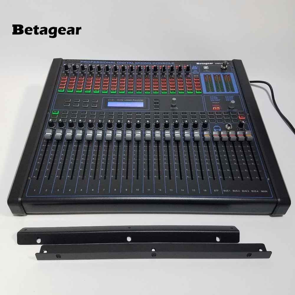 "Betagear Digital Mixer Audio DGM1640 16 channel profissional audio mixer Built in 100 kind DSP effect 19"" rack mount mixer stage