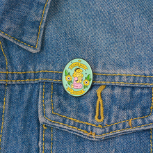 Lapel Pins Jewelry-Accessories Badges Gifts Enamel Brooches Women for Female Please Girl
