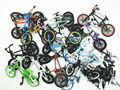NEW 8pcs random Flick Trix Bmx Finger Bike Alloy model bicycle Mini toy for boy collector's pack