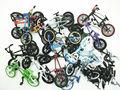 NUEVO 8 unids azar Flick Trix Bmx Bike el Dedo de Aleación modelo de bicicleta Mini juguete para niño paquete de coleccionista